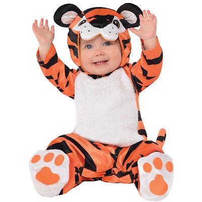 knuffiges Tiger Kostüm Gr. 80 86 Baby Karneval Halloween Kinder NEU (Tiger Kostüm Jungen)