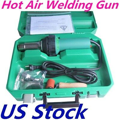 Us - 1600w Affordable Hand Held Plastic Hot Air Welding Gun 110v Easy Grip