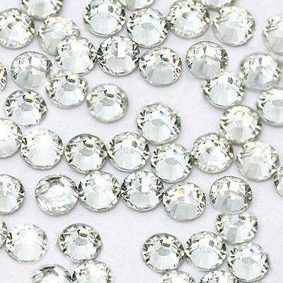 1440pcs HotFix Iron-On Flatback Rhinestones Seed Beads SS10 Crystal Clear 3mm ()