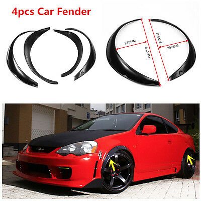4Pcs Flexible Black Polyurethane Car Automobile Exterior Fender Flares Excellent