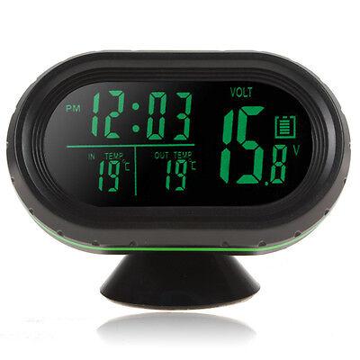 4 In1 Auto 1224v Led Digital Car Clock Thermometer Temperature Gauge Voltmeter