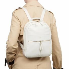 Knomo Mini Beaux Leather Backpack White/ Brand New