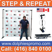 Trade Show Booth TUBE Fabric Banner Stand Pop Up Display Wall