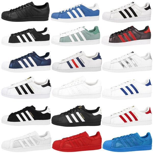 Adidas Superstar Herren Schuhe Originals Sneaker Retro Klassiker Turnschuhe