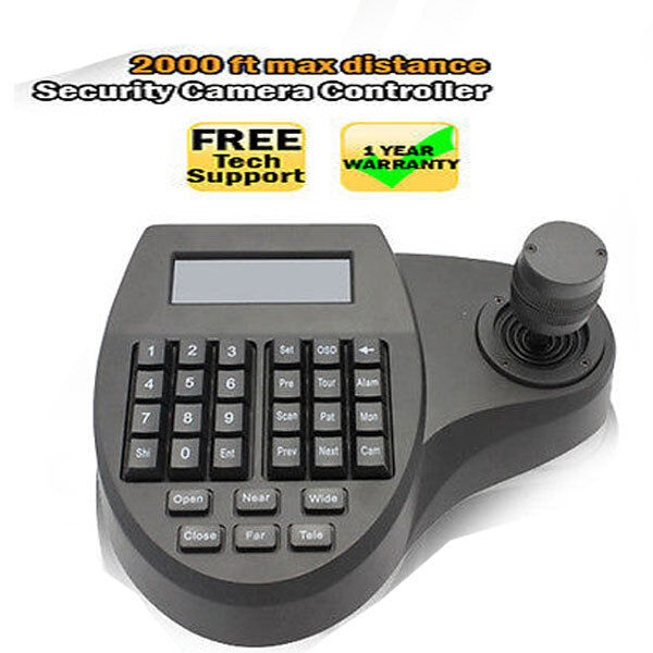New 3D Keyboard Controller for Speed Dome Security Camera LCD PTZ 3Axis Joystick