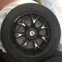 Rims with summer tires