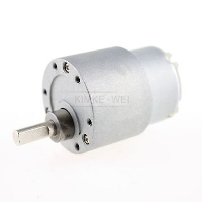 37mm 12v Dc 3.5 Rpm High Torque Gear Box Electric Motor New