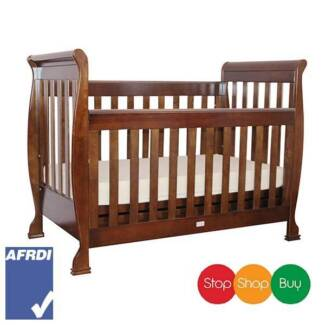 3in1 Walnut Baby Cot crib Toddler Bed Auburn Auburn Area Preview