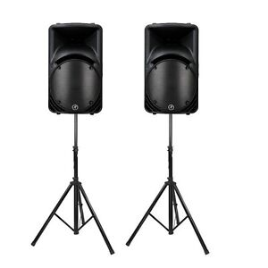 Mackie SRM 450 v2 (Pair) with Stand and Speaker Cover