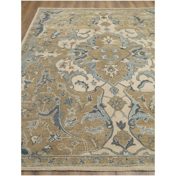 New 2.5x9 3x5 5X8 8X10 9X12 Natural Floral wool area rugs NL
