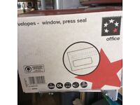 1 box 1000 DL WHITE Window Press Seal ENVELOPES -