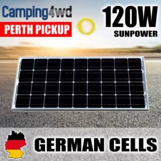 120W 12V Portable Solar Panel Power Battery Charger Mono Camping