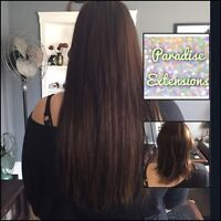 Hair extensions! Tape ins, fusions, microbeads
