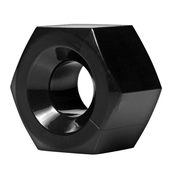 Master Series Black Ultimate HEX TPE Ball Stretcher / C-ring NEW !!