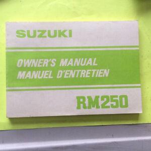 1982 Suzuki RM250 Owners Manual Regina Regina Area image 1