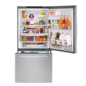 "LG LDC24370ST Refrigerator 33"" 24 Cu. Ft. Stainless Steel"