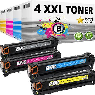 4x XXL TONER für HP COLOR LASERJET CP1510 CP1514N CP1515N CP1516N CP1518NI SET Toner Cb543a