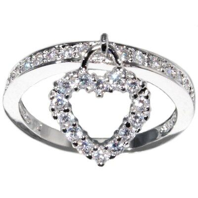0.6 CTW HEART ROUND BRILLIANT CUT ENGAGEMENT WEDDING RING BAND size 5,6,7,8,9,10