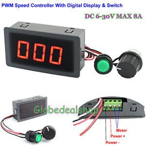 New Dc 6v 30v 12v 24v 8a Pwm Motor Speed Controller W