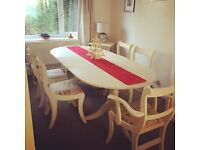 Extendable table and six chairs (SOLD)