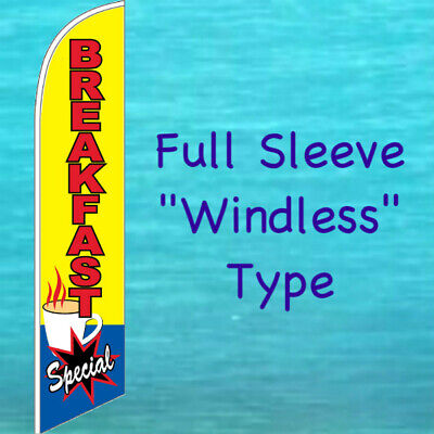 Breakfast Special Windless Feather Flag Swooper Flutter Banner Advertising Sign