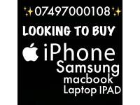 LOOKING FOR/ IPHONE 8 PLUS IPHONE 7 6S PLUS SAMSUNG S8 S7 EDGE MACBOOK AND IPAD PRO
