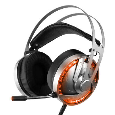 Gaming Headset LED Headphones With Mic 7.1 Stereo Surround Sound for PC PS4 Slim