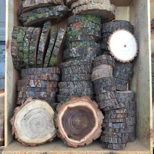 Wood Coasters Slabs Rounds