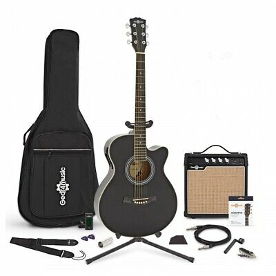 Single Cutaway Electro Acoustic Guitar + Complete Pack by Gear4music