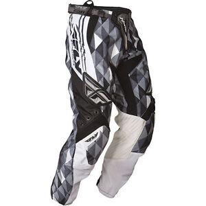 FLY racing adult KINETIC motocross ATV pants sz 34 black/grey NEW