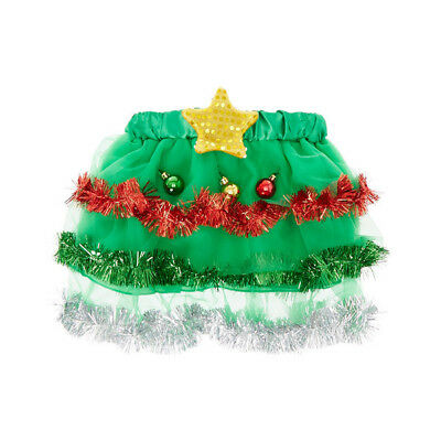 Claire's Christmas Tree Tutu Skirt with Light Up Star Dance Costume Sz S/M - Tutu With Lights