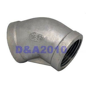 45-Elbow-3-4-Female-Fitting-150-304-Stainless-Steel-Pipe-Biodiesel-Degree-BSP