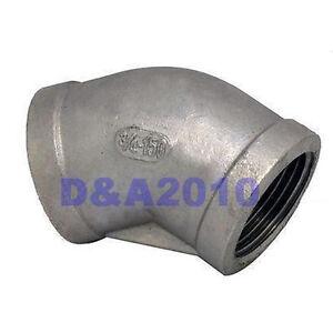 45-Elbow-3-4-Female-Fitting-150-304-Stainless-Steel-Pipe-Biodiesel-Degree-BSP