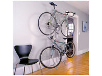 Bike storage solution for small spaces - vertical - holds 2 bikes