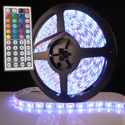 5M Waterproof 5050SMD RGB 300LED Flexible LED Light Strip lamp + 44Key IR Remote on Rummage