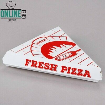 White Clay Coated Clamshell Pizza Slice Box Printed Triangle Clamshell 20 Pack