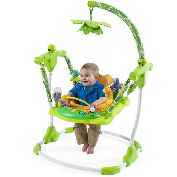 Kids Safari Jumper Toddler Exerciser Seat Fun Safe Play Baby Walker Bouncer Toy