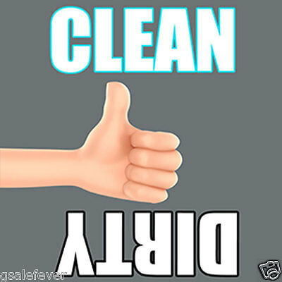 Clean/Dirty Dishwasher Magnet - Durable, Waterproof & Laminated - THUMBS UP DOWN