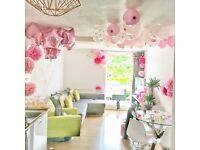 Approx 20-30 pink Pom Pom decorations