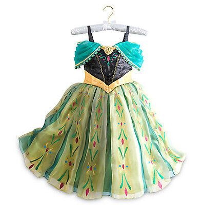 NWT Disney Store Frozen Anna Deluxe Costume Coronation Dress 7/8 9/10  - Anna Deluxe Costume