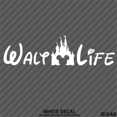 Walt Life Castle Disney Car Decal Sticker - Choose - Disney Car Stickers