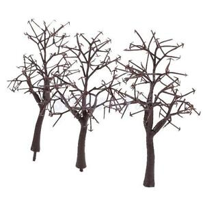 10pcs-Scenery-Landscape-Bare-Trunk-12cm-Model-Train-Track-Building-Trees-NEW