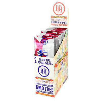 High Hemp Organic Wrap Hubbabubba Full Box 25 Pouches, 2 Wraps per Pouch