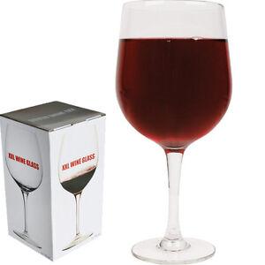 GIANT XXL WINE GLASS HOLDS A BOTTLE MASSIVE WEDDING HEN NIGHT GIFT NOVELTY NEW