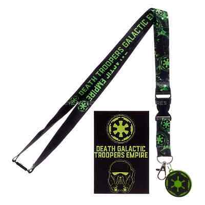 Death Troopers Galactic Empire Neck Lanyard ID Badge Holder STAR WARS Rogue One