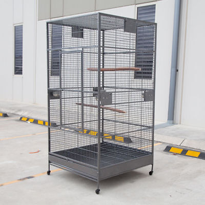 XXL Large Bird Flight Cage Parrot Aviary H80xW35.5xD35.5 for Maccaw African grey