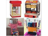 Candy floss Popcorn Chocolate fountain Slush machine Gladiator dual bouncy castle hire in London
