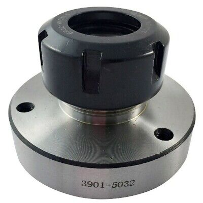 100mm Diameter Er-40 Collet Chuck Mount Choice Of Backplate To Use On A Lathe