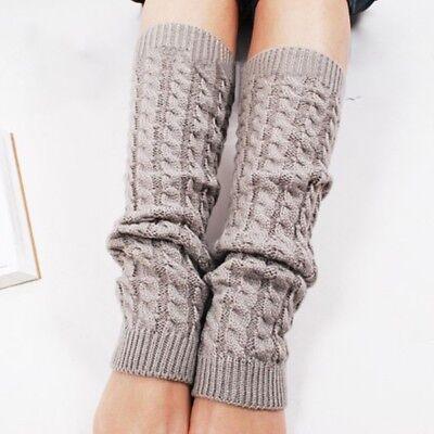 Wolle Knee Warmers (Women Elastic Winter Warmer Knit Leg Knee High Sock Leg warmer Light Grey Great)