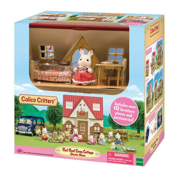 CALICO CRITTERS #CC1798 Red Roof Cozy Cottage - New Factory Sealed